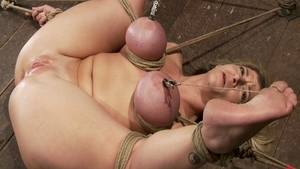 Torture accompanied by big tits mistress Sara Jay