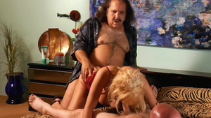 Good fuck with Sunset Thomas in tandem with Ron Jeremy