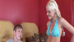 Blonde babe Christine Alexis getting a facial
