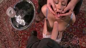 Holly Heart with Owen Gray brutal throat fucking