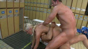 Cum on face escorted by bald european blonde babe