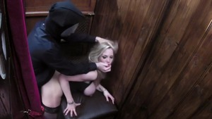 Blonde haired Rebecca More helps with loud sex in HD