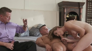 Horny amateur Ashley Lane gets a buzz out of blowjobs HD