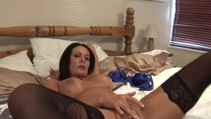 Wet brunette POV masturbating