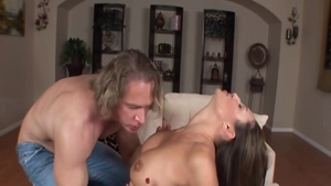 Very sexy Sky Taylor ass fucking getting a facial