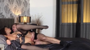 Tina Kay in her lingerie double blowjob HD