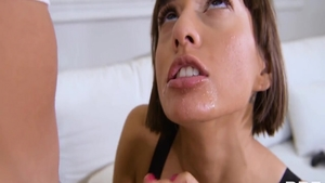 Teen Janice Griffith riding black cock