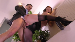 Rough hard nailining together with secretary Misha Cross in HD