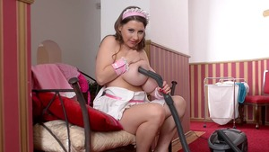 Busty maid agrees to rough fucking