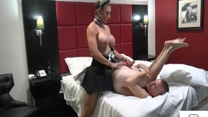 Large boobs mistress submissive masturbation