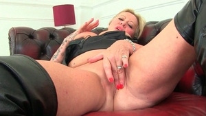 Fingering escorted by busty blonde haired