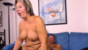 Young large boobs granny cock sucking HD