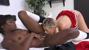 Ana Foxxx , Scarlet Red accompanied by Ana Foxx