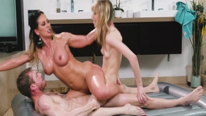 Young Aj Applegate blonde hair sucking cock porn