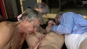 Fucking accompanied by young babe