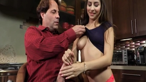 Hard pounding in company with super sexy babe Nina North