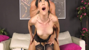 Handsome big ass housewife in sexy lingerie blowjob