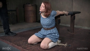 Young redhead finds pleasure in humiliation in socks HD