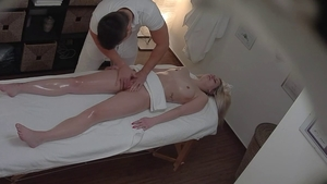 Czech babe oily massage