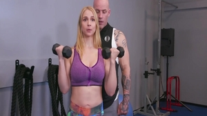 Big ass Sarah Vandella pussy fucking in the gym