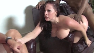 Large boobs Gianna Michaels threesome cumshot