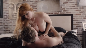 Super sexy redhead Penny Pax hardcore cumshot
