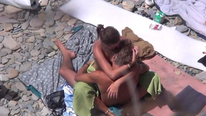Pussy fuck at the beach HD