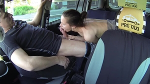 Pornstar Samantha Bee crazy fucking in taxi