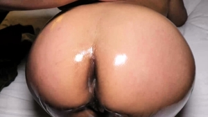 Thick ebony amateur loves rough real sex HD