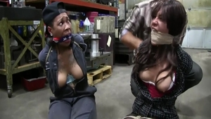 BDSM along with charming girl in pantyhose