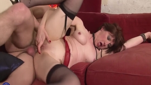 Filthy french mature Sophie Pasteur desires real sex