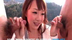 Double penetration outdoors hairy asian