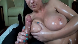 Bella Blaze in experience oil rides a hard dick