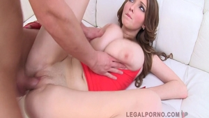 Large boobs Lucie Wilde loves gangbang