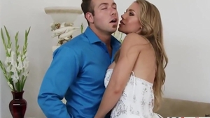 Hardcore sex in company with gorgeous bride