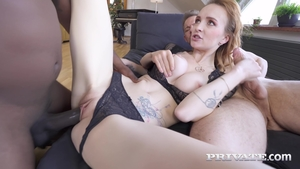 Large boobs extreme threesome