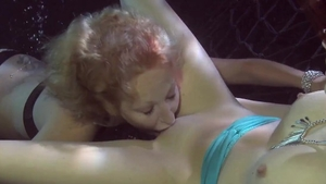 Very kinky lesbians pussy licking and underwater HD