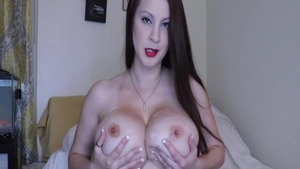 Big boobs & beautiful amateur fucked in the ass on web-cam