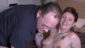 Blowjobs in the company of young french mature
