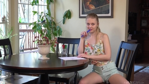 Female Lily Rader fetish playing with toys