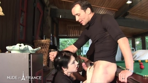 Slamming hard with brunette Darla Demonia