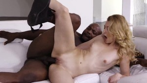 Very sexy being pounded by big black cock stepfather