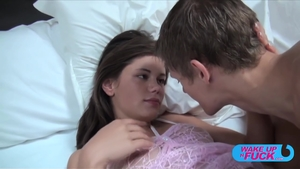 Brunette Little Caprice sex with toys