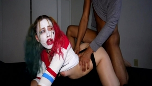 Doggy between perfect pawg Harley Quinn