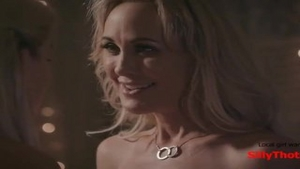 'SillyThots.com - Two lovely blond MILFs Bring Each Other To orgasm'