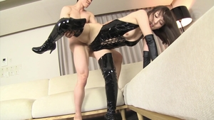 Brunette Yui Hatano fun with toys