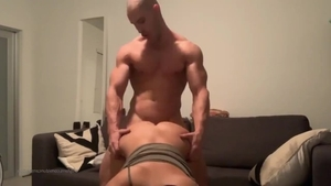 Big ass goth helps with group sex in HD
