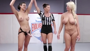 Pornstar London RIver wrestling