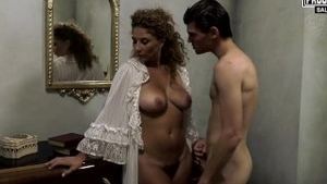 Nailed rough accompanied by young italian MILF