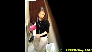 Very nice and famous girl upskirt masturbation in the toilet